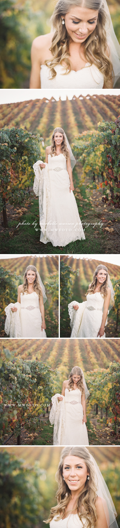 Vineyard Wedding Bridal Portraits