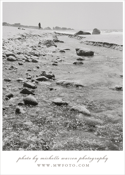 Big Sur Beach landscape in black and white