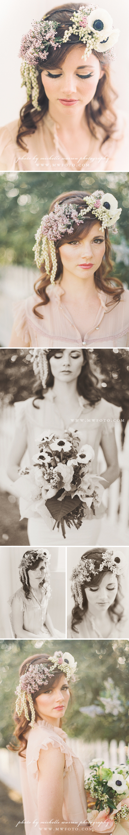 bridal floral headpiece - san luis obispo florist - adornments flowers & finery