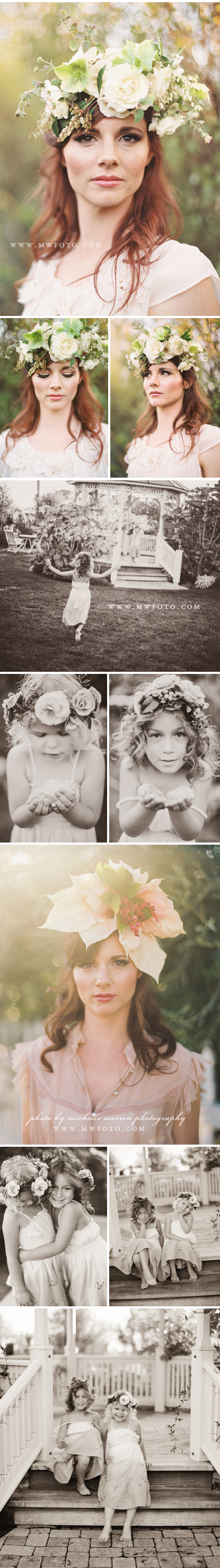 Bridal Floral Headpieces - Flower girls - San luis obispo florist
