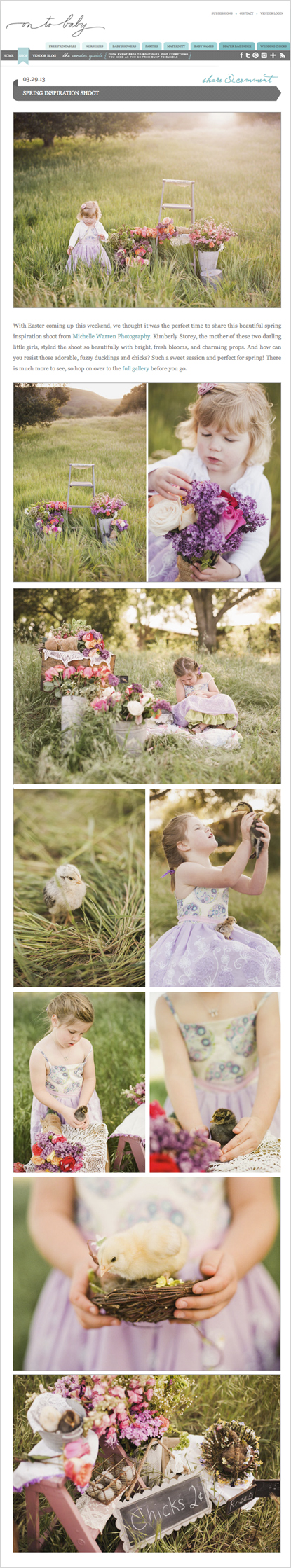 Santa Ynez Kids Photography - Easter Photos - On To Baby